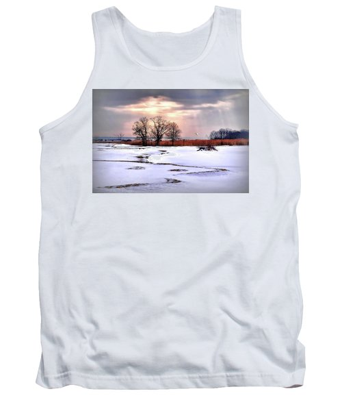 Par For Winter's Course Tank Top by Diana Angstadt