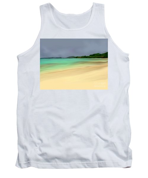 Tank Top featuring the digital art Paradise by Anthony Fishburne