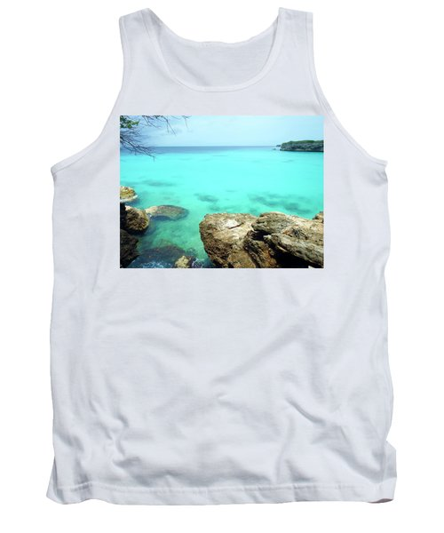 Tank Top featuring the photograph Paradise Island, Curacao by Kurt Van Wagner