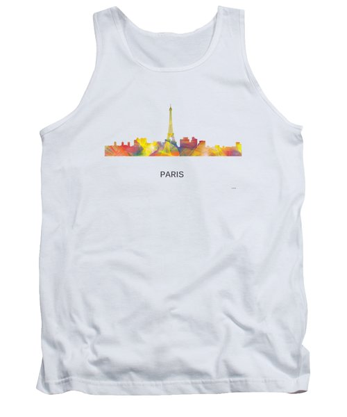 Paris France Skyline Tank Top by Marlene Watson