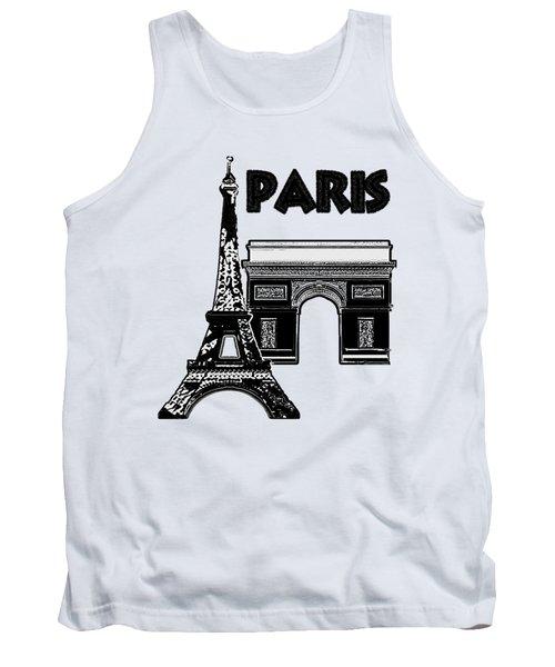 Paris Graphique Tank Top by Pharris Art