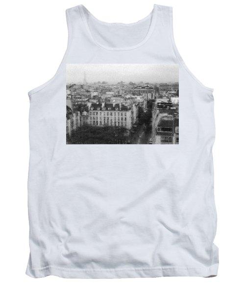 Paris In The Rain  Tank Top