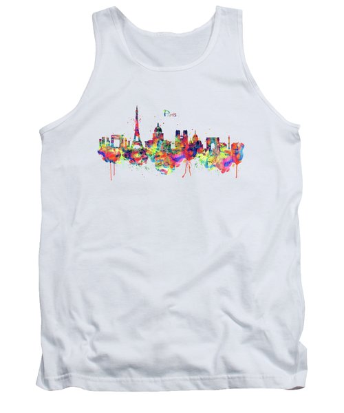 Paris Skyline 2 Tank Top by Marian Voicu