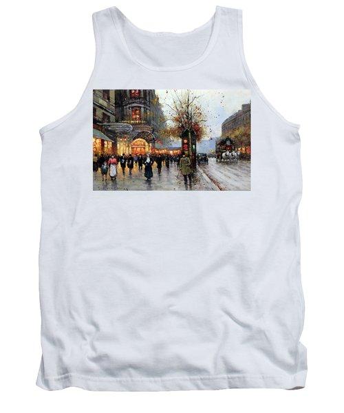 Paris Street Scene Tank Top