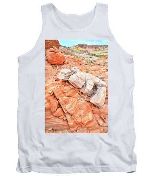 Tank Top featuring the photograph Park Road Sandstone In Valley Of Fire by Ray Mathis