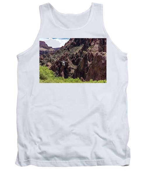 Park Service Helicopter In The Grand Canyon  Tank Top