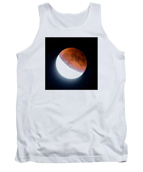 Tank Top featuring the photograph Partial Super Moon Lunar Eclipse by Todd Kreuter