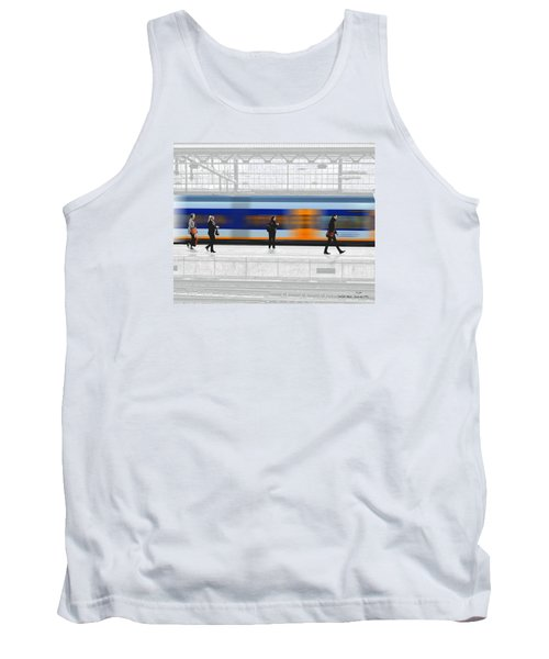 Tank Top featuring the photograph Passing Train by Pedro L Gili