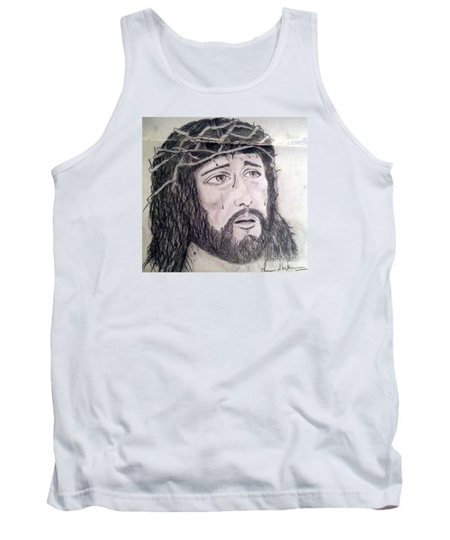 Tank Top featuring the painting Passion Of Christ by Brindha Naveen