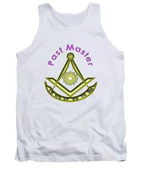 Past Master In White Tank Top