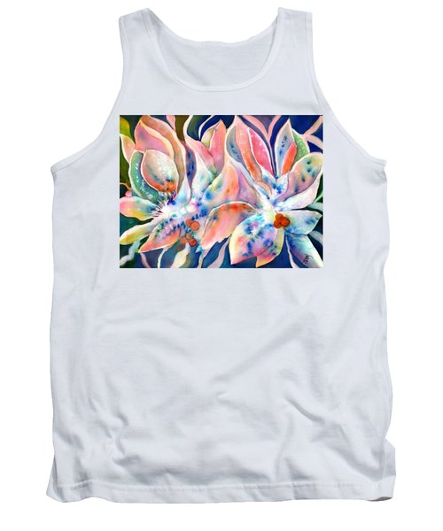 Pastel Lily Flowers Tank Top