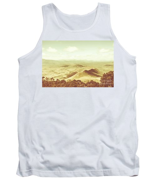 Pastel Tone Mountains Tank Top