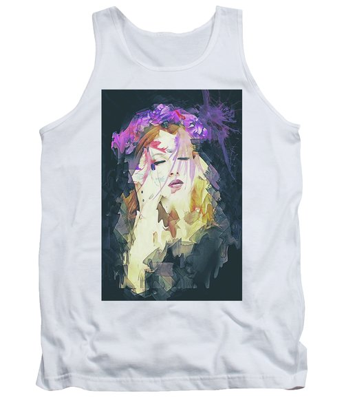 Path Abstract Portrait Tank Top