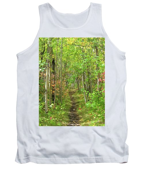 Path In The Woods Tank Top
