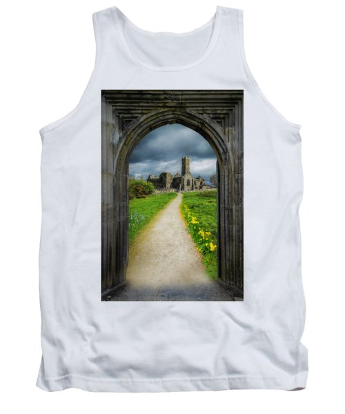 Tank Top featuring the photograph Path To Ireland's Quin Abbey, County Clare by James Truett