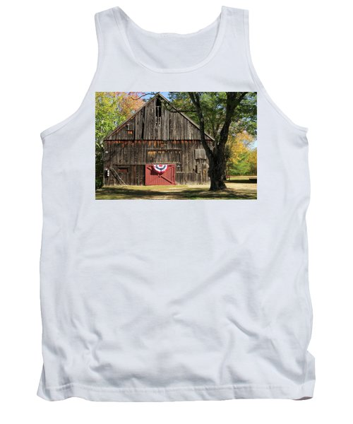 Patriotic Barn Tank Top