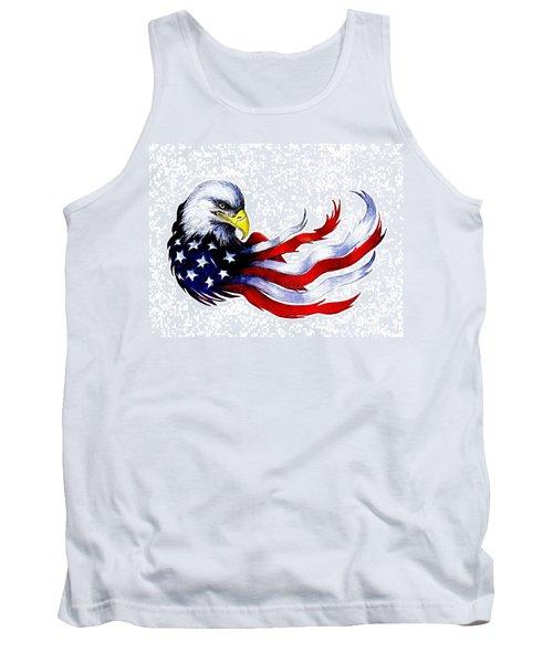 Patriotic Eagle Signed Tank Top