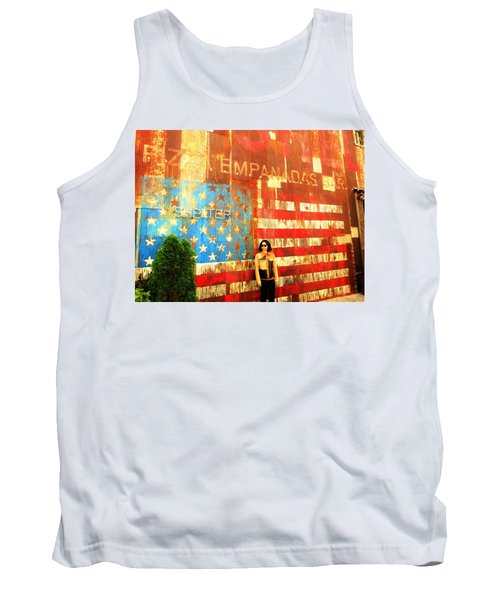 Patriotic Empanadas Wall In New York  Tank Top
