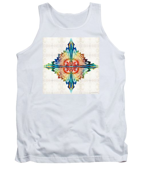 Pattern Art - Color Fusion Design 1 By Sharon Cummings Tank Top
