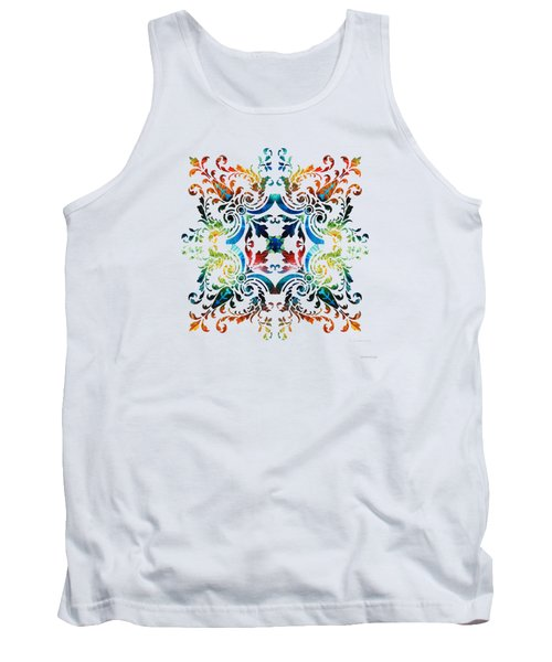 Pattern Art - Color Fusion Design 7 By Sharon Cummings Tank Top