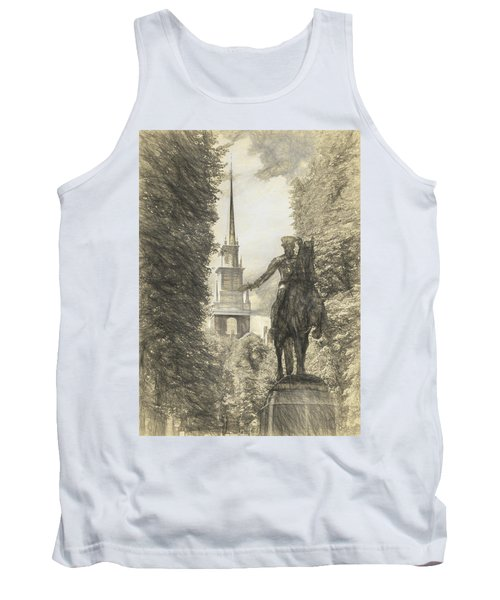Paul Revere Rides Sketch Tank Top