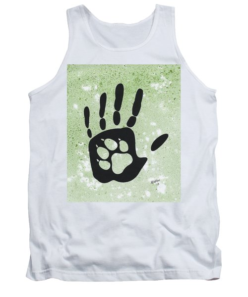 Paw And Hand Tank Top