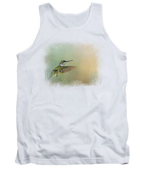 Peaceful Day With A Hummingbird Tank Top
