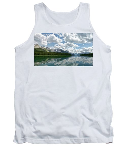 Tank Top featuring the photograph Peaceful Maligne Lake by Sebastien Coursol