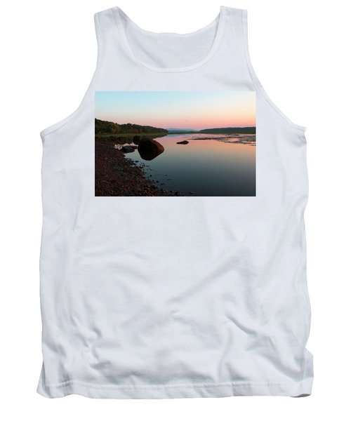 Peaceful Morning On The Hudson Tank Top