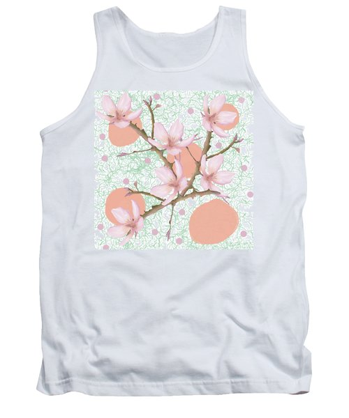 Peach Blossom Pattern Tank Top