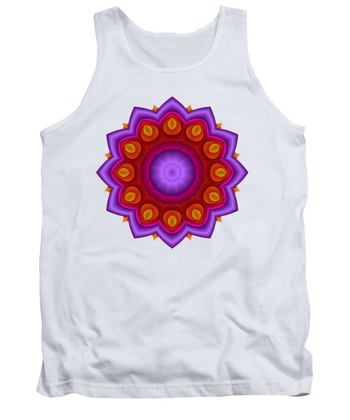 Peacock Fractal Flower Pretty Petals Tank Top