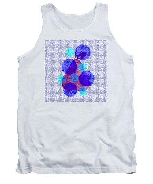 Pear In Blue Tank Top by Coco Des