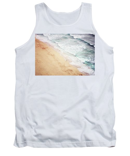 Tank Top featuring the photograph Pedn Vounder by Lyn Randle