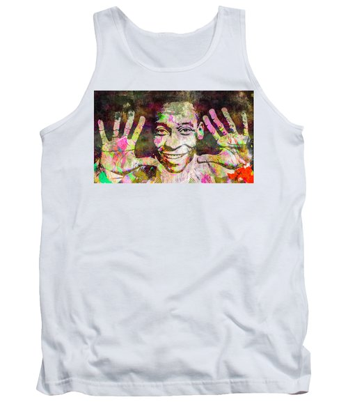 Tank Top featuring the mixed media Pele by Svelby Art