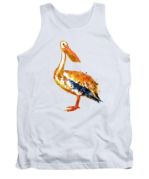 Pelican Watercolor Painting Tank Top