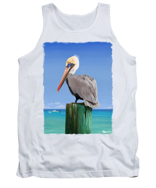 Pelicans Post Tank Top by Kevin Putman