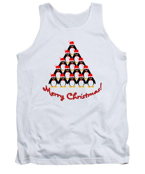 Penguin Christmas Tree Tank Top