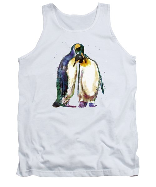 Penguin Couple Tank Top