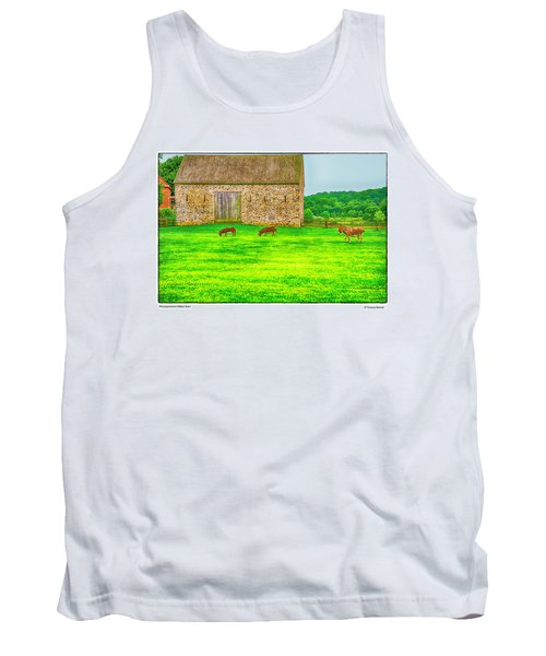 Pennsylvania's Oldest Barn Tank Top by R Thomas Berner