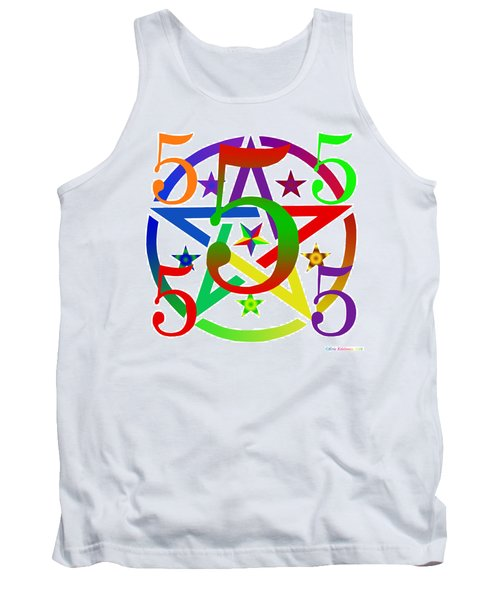 Penta Pentacle White Tank Top