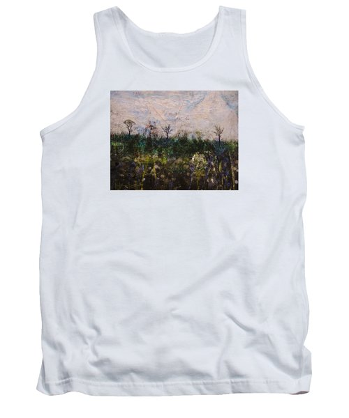 Tank Top featuring the painting Pentimento by Ron Richard Baviello