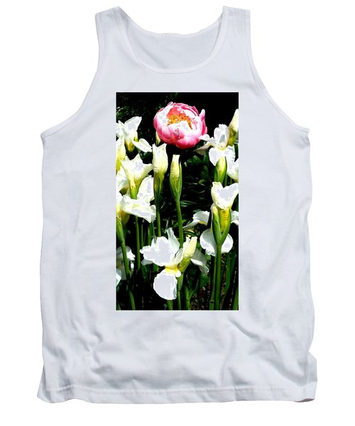 Peony And Iris Tank Top