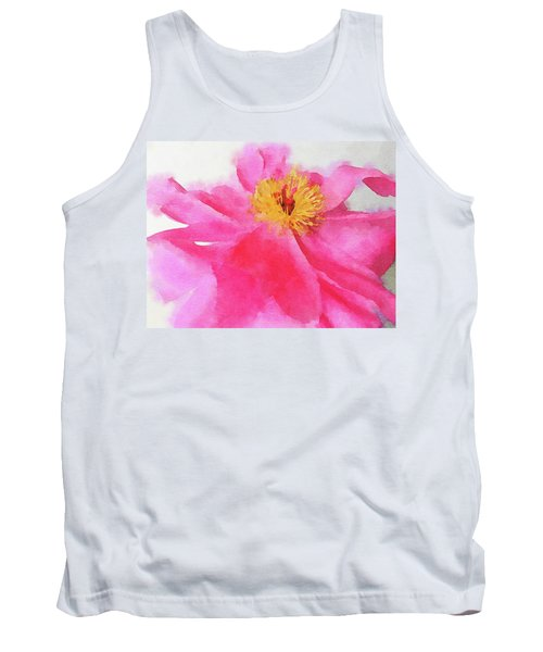 Tank Top featuring the digital art Peony by Mark Greenberg