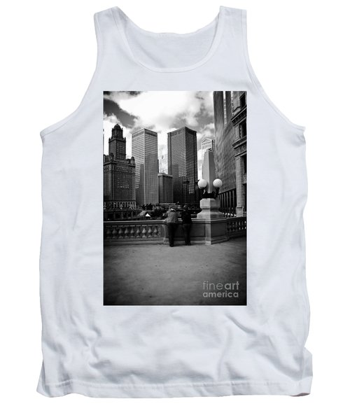 People And Skyscrapers Tank Top