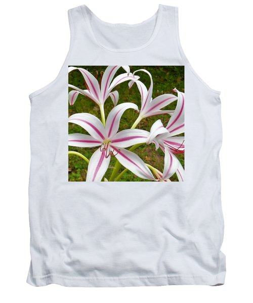 Peppermint Lilies Tank Top
