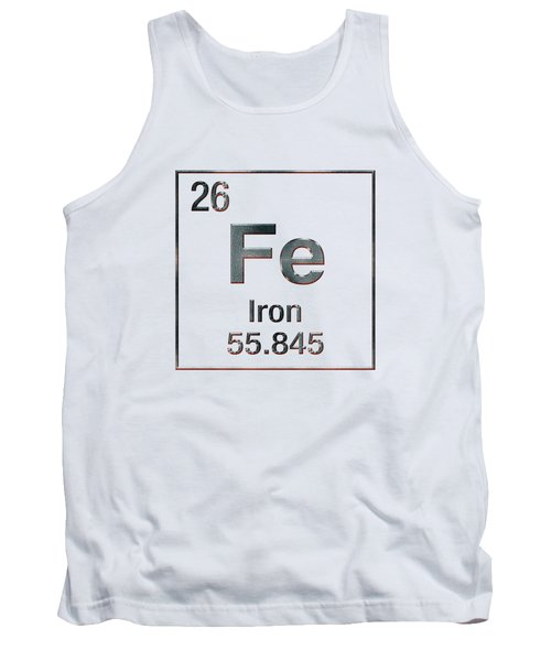 Periodic Table Of Elements - Iron Fe Tank Top