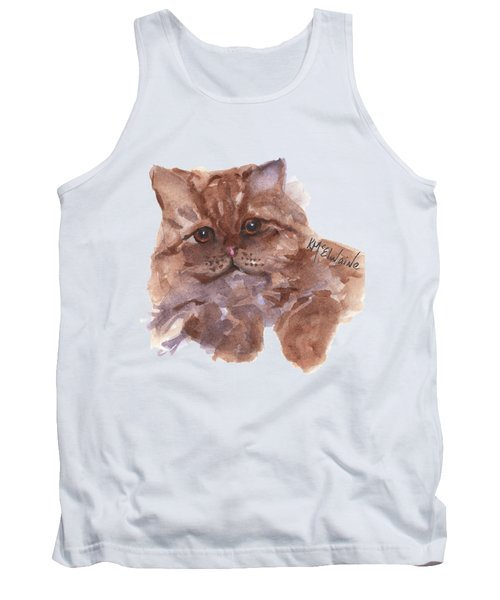 Persian Cat By Kmcelwaine Tank Top by Kathleen McElwaine