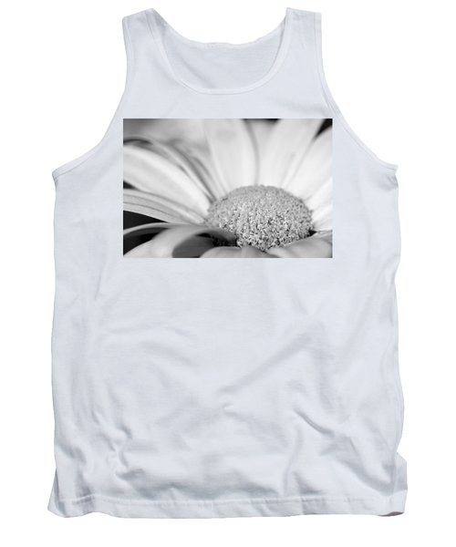 Tank Top featuring the photograph Petals - Black And White by Angela Rath