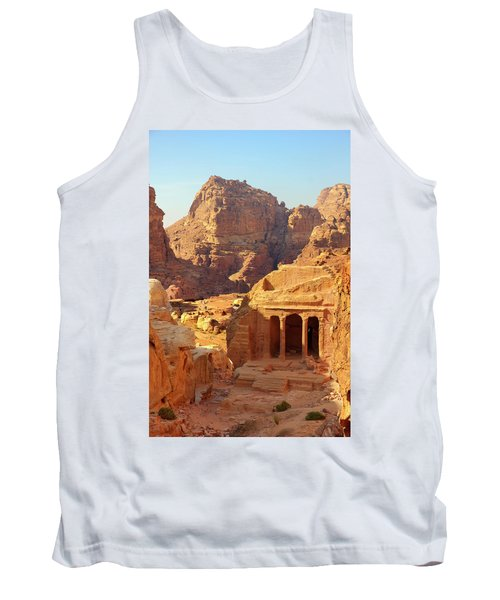 Petra Buildings, Pond And Gardens Complex Tank Top by Nicola Nobile