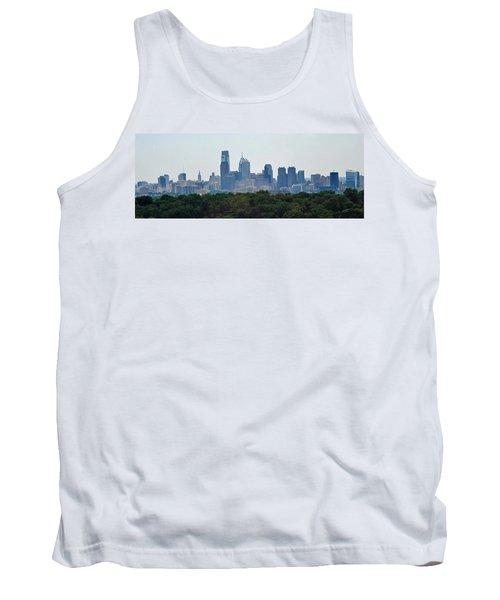 Philadelphia Green Skyline Tank Top